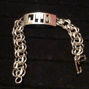 "Other - 💲50% off w/bundle💲 SS HEAVY Bling Bracelet 7.5"""